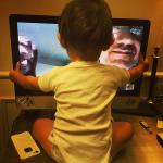 santiago su skype con i nonni